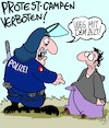 Cartoon: VERBOTEN!! (small) by Karsten tagged g20,polizei,hamburg,deutschland,europa,demonstranten,proteste,demokratie,prävention,gewalt,politik