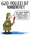 Cartoon: Vorbereitet (small) by Karsten tagged g20,polizei,hamburg,deutschland,europa,demonstranten,proteste,demokratie,prävention,gewalt,politik