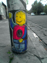 Cartoon: Legomen take to the streets (small) by urbanmonk tagged street,art,graffitti