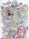 Cartoon: Monsters In Love (small) by tochlo tagged monster,love,freaks