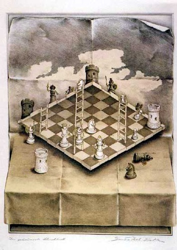 Cartoon: chess satranc (medium) by keylocksmith tagged sandra,del,prete