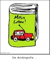Cartoon: Die Autobiografie (small) by Amokkritzler tagged buch,litertur,auto,biografie,sprache