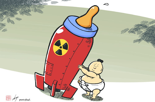 Cartoon: Kim Jong Boom (medium) by rodrigo tagged north,korea,kim,jong,un,nuclear,war,missile