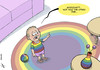 Cartoon: Gay adoption (small) by rodrigo tagged gay,marriage,children,adoption,homosexual,equality