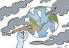 Cartoon: Pollution cancer (small) by rodrigo tagged pollution health environment air water forest urban human industry co2 disease