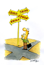 Cartoon: ? (small) by Svetlin Stefanov tagged crisis