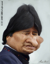 Cartoon: Evo Morales (small) by alvarocabral tagged caricature