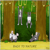 Cartoon: Back To Nature (small) by Yavou tagged back,to,nature,jungle,cartoon,yavou,living,free,freedom