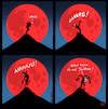 Cartoon: Blutmond (small) by Yavou tagged blutmond,werwolf,lykaner,twitter,social,media,internet