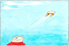 Cartoon: Take off (small) by Yavou tagged take off abheben raketenantrieb schädel schädeldecke gehirn flying brain rocket boost
