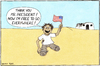 Cartoon: Thank you (small) by Yavou tagged usa,president,iraq,war,boy,amputation,legs,flag,american,afghanistan,vietnam,nicaragua,lybia,syria,imperialism,freedom,human,rights,humanitarian,intervention,krieg