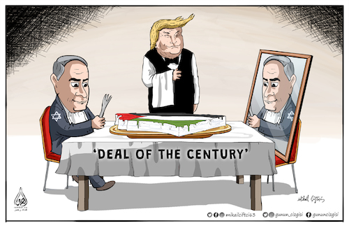 Cartoon: Deal of the century! (medium) by Mikail Ciftci tagged deal,century,palestine,israel,mikail,cartoon