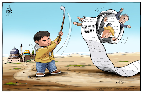 Cartoon: Deal of the century (medium) by Mikail Ciftci tagged deal,century,palestine,jarusalem,alaqsa