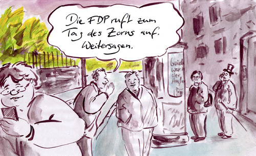 Cartoon: FDP rumort (medium) by Bernd Zeller tagged fdp,partei,parteien