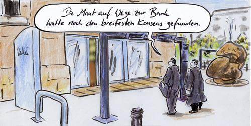 Cartoon: Geldquelle (medium) by Bernd Zeller tagged bankenabgabe,maut