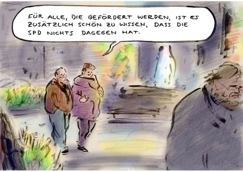 Cartoon: Gutes Signal (medium) by Bernd Zeller tagged spd