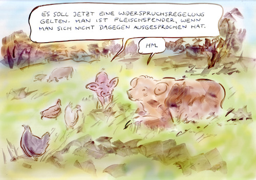 Cartoon: Verbraucherinformation (medium) by Bernd Zeller tagged tier