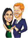 Cartoon: Harry and Meghan (small) by Marycaricature tagged royal,family,duke,and,duchess,of,sussex