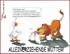 Cartoon: Alleinerziehend (small) by Charmless tagged ente,löwe,alleinerziehend,kinder