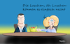 Cartoon: Merkel und Söder (small) by Fish tagged merkel,angela,markus,söder,bayern,kanzler,csu,cdu,chiemsee,kanzlerfrage,union,fish