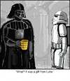Cartoon: Bad Dad (small) by noodles tagged darth,vader,star,wars,father,son,movies,noodles