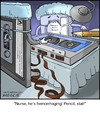 Cartoon: Cassette Surgery (small) by noodles tagged cassette,tape,surgery,pencil,operating,room