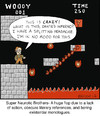 Cartoon: Super Neurotic Brothers (small) by noodles tagged video,games,mario,dante,inferno,literature