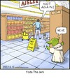 Cartoon: Yoda The Jerk (small) by noodles tagged yoda,star,wars,jerk,mop,grocery,store