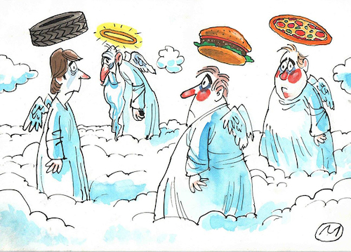 Cartoon: angels (medium) by zule tagged angels
