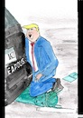 Cartoon: Der Präsident kniet (small) by Stefan von Emmerich tagged vote,him,away,donald,trump,dump,president,america,the,liar,tweets,tonight
