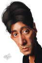 Cartoon: Al Pacino (small) by Francesco tagged alpacino,scarface,thegodfather
