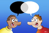Cartoon: Dialogue (small) by elihu tagged racism black and white dialogue