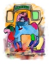 Cartoon: camel on the road (small) by ceesdevrieze tagged fun