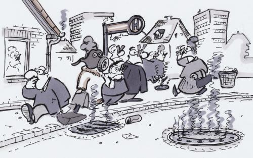 Cartoon: sewage system (medium) by HSB-Cartoon tagged sewage,system