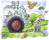 Cartoon: agricultural policy (small) by HSB-Cartoon tagged agricltural,policy,farmer,area,tractor,farm,field,idyll,idylle,nature,natur,hof,agrar,landwirtschaft,trecker,felder,feld,cartoon,karikatur,caricature,hsb,airbrush