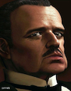 Cartoon: Marlon Brando - Der Pate (small) by Cartoonfix tagged marlon,brando,don,corleone,der,pate