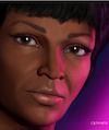 Cartoon: Uhura - Nichelle Nichols (small) by Cartoonfix tagged uhura,nichelle,nichols,star,trek,raumschiff,enterprise