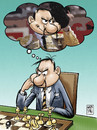 Cartoon: bullfighter chessplayer (small) by Wadalupe tagged bullfighter,chess,player,tournament,sport,thinking