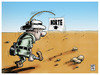 Cartoon: his own GPS (small) by Wadalupe tagged gps,compass,oasis,desert,explorer,thirst,rocks,nasa,walking,safari