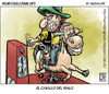 Cartoon: ser malo sale caro (small) by Wadalupe tagged oeste,western,malo,jinete,cowboy,dinero,monedas