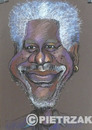 Cartoon: Morgan Freeman (small) by Darek Pietrzak tagged karikatur