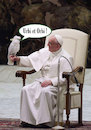 Cartoon: Holy Parrot (small) by poleev tagged francis,franziskus,pope,papst,pontifex,parrot,vatican,catholicism,church