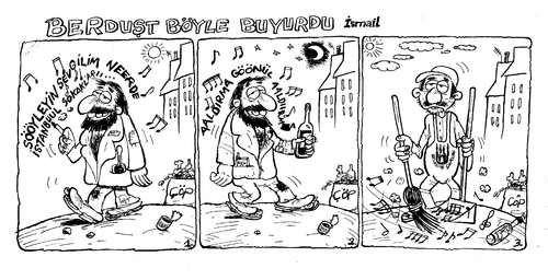 Cartoon: berdust 2 (medium) by ismailozmen tagged ismail,özmen