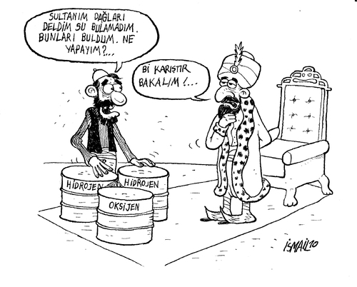 Cartoon: Ferhat brings water (medium) by ismailozmen tagged ferhat,sirin,legend