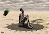 Cartoon: hunger and Coronavirus (small) by miguelmorales tagged coronavirus,hunger,pandemic,africa,hungry,poverty,death,malnutrition,children,crisis,food,starvation