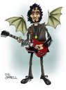 Cartoon: Tony Iommi (small) by campbell tagged tony iommi black sabbath hearvy metal rock guitar guitarist music