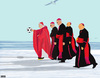 Cartoon: 4 Irish Bishops and Santa (small) by nerosunero tagged bishops,santa,pope,christmas,holidays
