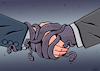 Cartoon: Stranglehold (small) by EnricoBertuccioli tagged corruption,money,bribery,political,government,dishonesty,authority,power,greed,crime,trust,abuse,influence,interest,public,illegality,law,society,gain