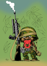 Cartoon: Killer mit Schnuller (small) by Tim Posern tagged kindersoldaten,minderjährige,krieg,war,child,soldier