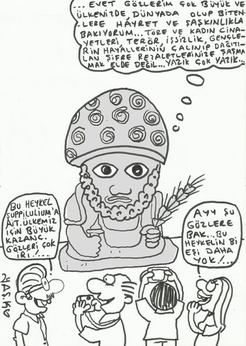 Cartoon: 2.suppiluliuma (medium) by yasar kemal turan tagged historical